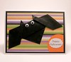 Origami Bat Halloween Card