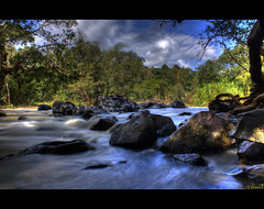 Stream (HDR) (linus_clickr) Tags: water forest river stream image jungle hdr wayanad southindia kuruvadeep