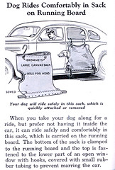 dog car sack (x-ray delta one) Tags: old family 1920s history modern vintage magazine advertising tv 1930s technology geek tech suburban memories suburbia retro nostalgia 1940s 1950s americana inventions ww1 populuxe housewife generation thepast thefuture oldfashioned retrotech americanhistory dyi popularscience popularmechanics tommorowland magazineillustration thegreatwar