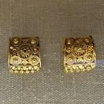 Etruscan gold filigree earrings thumbnail