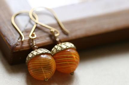 acorn earings