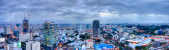 Dusk falls over Saigon