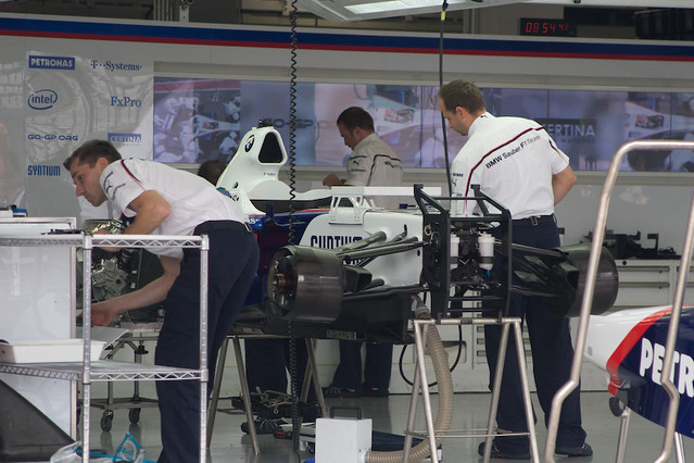 BMW Sauber Pit Garage
