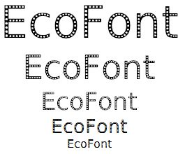 EcoFont (sizes 48 down to 12)