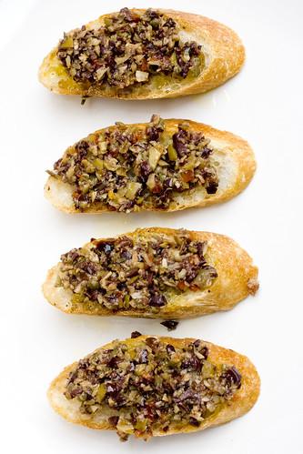 Olive Caper Relish on baguette 5