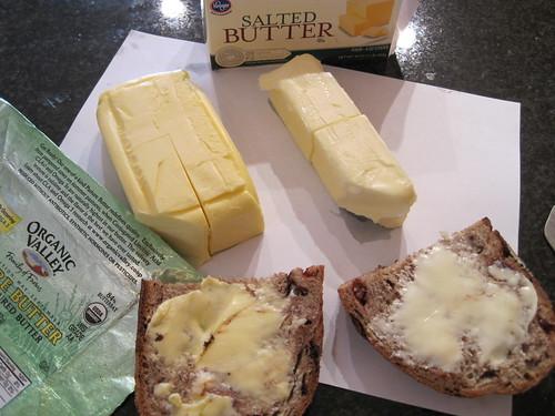 Organic Valley Pasture Butter vs. Kroger Butter