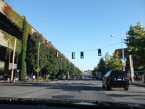 driving around seattle