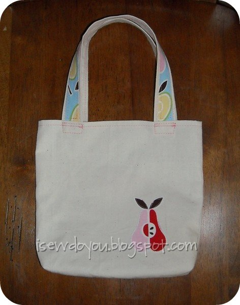 Apples and Pears tote back
