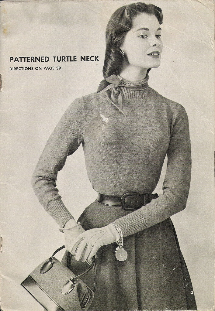 patterned turtle neck