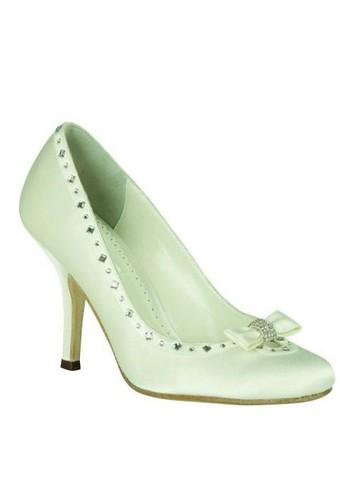 Crystal sprinkles in wedding shoes.
