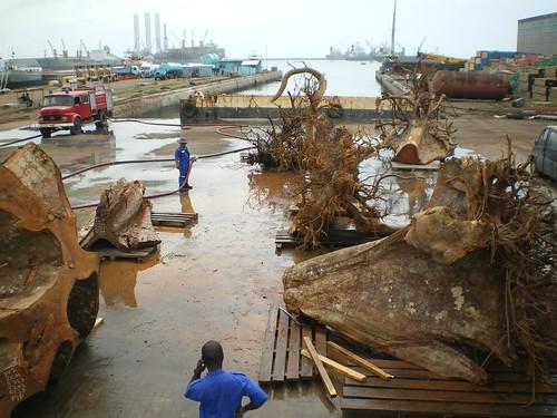 In port in Ghana