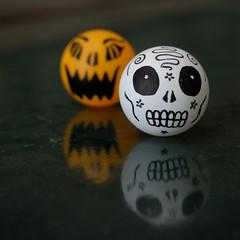 pumpkin and skull ping pong balls - Halloween Ping Pong Balls