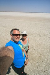 '09 / Cyprus / Larnaca Salt Plain / Selfie (p_dude) Tags: us salt cyprus saltlake plain 2009 larnaca selfie saltplains larnaka