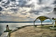 I could not forget the loneliness (NURAY YUZBASI) Tags: sea cloud beach girl turkey izmir karyaka sahil specialpicture nikahsalonu