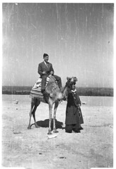 Suited up on a camel (couroccollector) Tags: found egypt camel 1950s