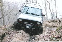 My XJ heading down a steep hill (Randy B 64) Tags: jeep 4x4 hill down heading steep xj 40l