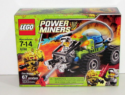 LEGO 2010 Power Miners 8188 Fire Blaster - Front of the Box