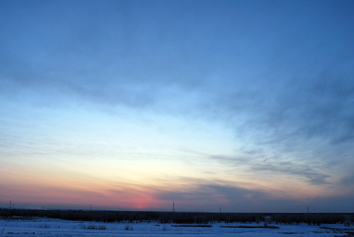 Winter Sunrise in Yakutsk, Siberia/Russia. Nov. 20, 2009.