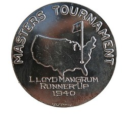 1940 Augusta Masters Runner-Up medal rev