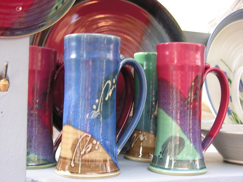 Colorful Pottery from Ken Foster Ceramics - and useful, too