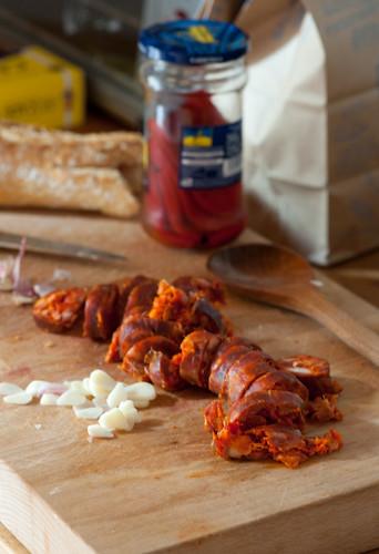 chorizo & garlic
