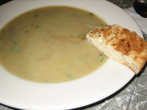 potato and leek soup of the day at soul food
