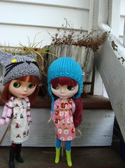 Percy and Andy on the back steps
