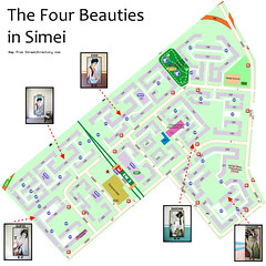 Four Beauties Map