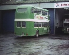 Buses at work in Chester, Part 2 (Lady Wulfrun) Tags: cortina wet rain chester national rainy 1980 1980s sherpa leyland fordcortina bygone lodekka 19801 crosville guyarab chestercitytransport fiestamk1 jfm230d