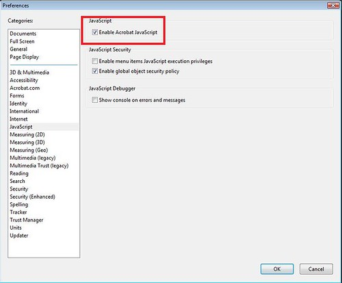 Possible Security Vulnerability  in Adobe Acrobat Reader