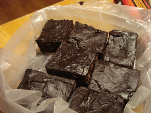 brownies -  packed for school!