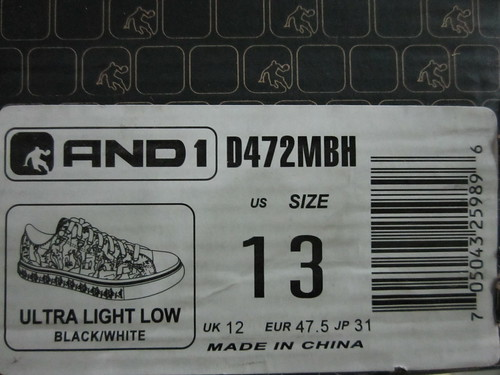 Ultra Light Low Black/White And1