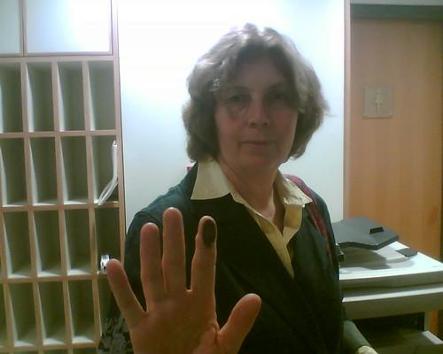 Anat Hoffman, fingerprinted