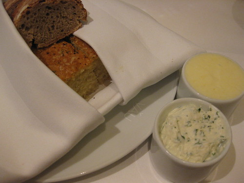 vau's foccacia with butter and herb cream cheese