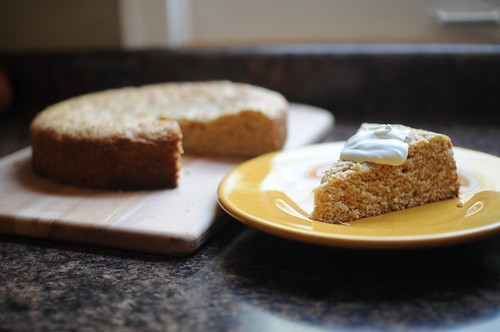 Vanilla Buttermilk Cake with Creme Fraiche