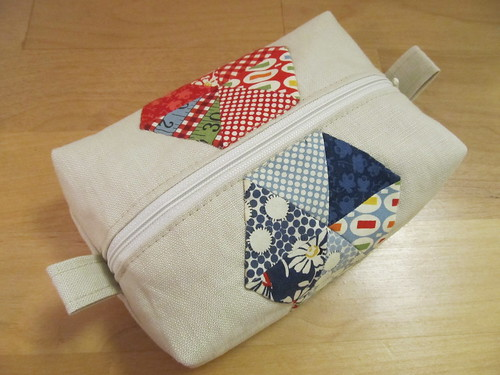 hexagon linen box pouch