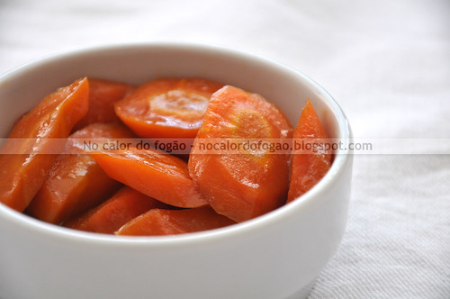 Cenouras glaceadas especiais