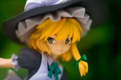 Marisa's Fox Face (SirNarwhal) Tags: flowers game anime cute grass leaves japan toy outside toys spring marisa witchhat witch adorable figure videogame collectible broom pvc japanesetoy kotobukiya touhou animefigure japanesefigure pvcfigure touhouproject japanesecollectible animecollectible marisakirasame