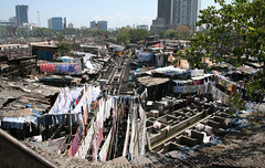 Dhobi Ghat Mumbai 38 (lemoncat1) Tags: railroad india train rail railway wash laundry bombay western mumbai washing ghat dhobi