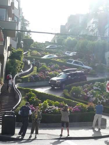 lombard street.   the crookedest street in the world