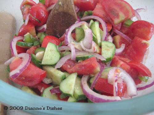 Gazpacho Salad: You Can Stop Here or Proceed to Make Soup!