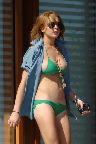 : tits, greenbikini, bikini, big