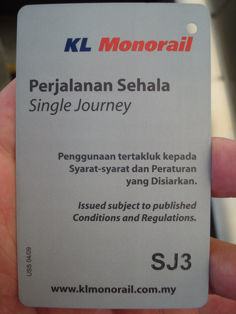 KL Monorail的票