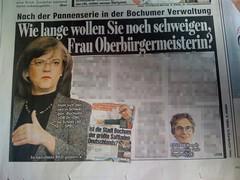 BILD Ruhrgebiet: Wie lange wollen Sie noch schweigen, Frau Oberbürgermeisterin?