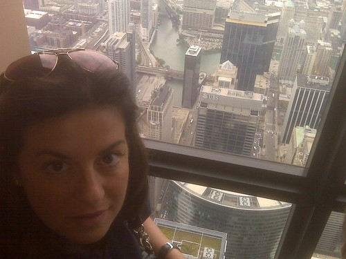 Me on the Willis Tower Skydeck