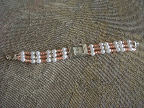 Beaded watchstrap