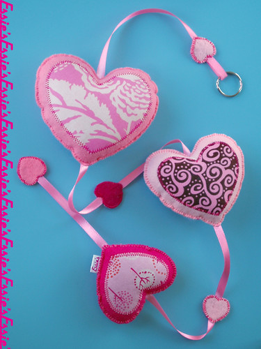 Decorations pink hearts