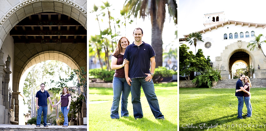 Santa Barbara Court House Sunken Gardens engagement portrait session