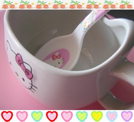 hello kitty spoon and mug