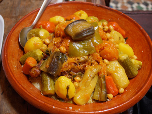 Couscous with 7 vegetables